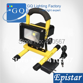 FREE SHIPPING10W 20w RGB rechargeble LED Flood light Outdoor Floodlight projector lamp lighting 85V-265V