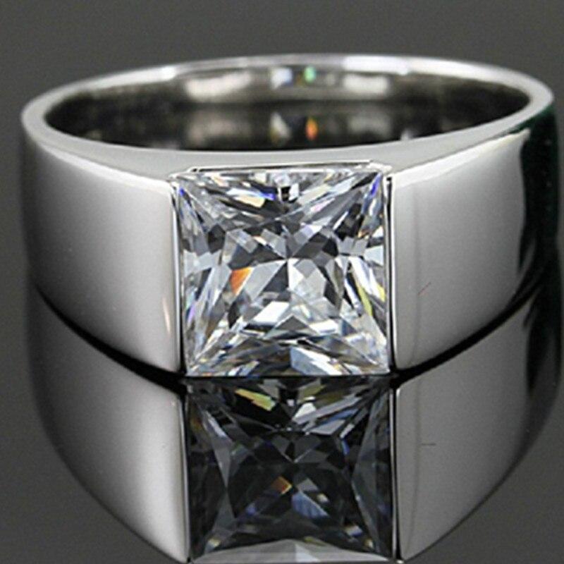 bague diamant homme argent