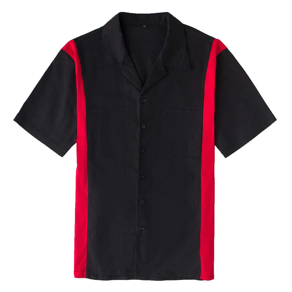 Бесплатная доставка, 2019 хлопок, американская MOTO-GP, гоночная футболка, черный/красный цвет, рубашка с короткими рукавами, Chemises Hommes F1 Fans, блузка