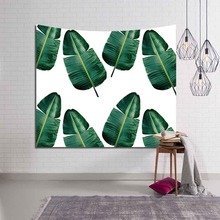 Polyester Tropical Plant Pattern Cloth Wall Hanging Tapestry Leaves Bohemian Art Carpet Blanket Beach Towel Yoga Picnic Mat 3D