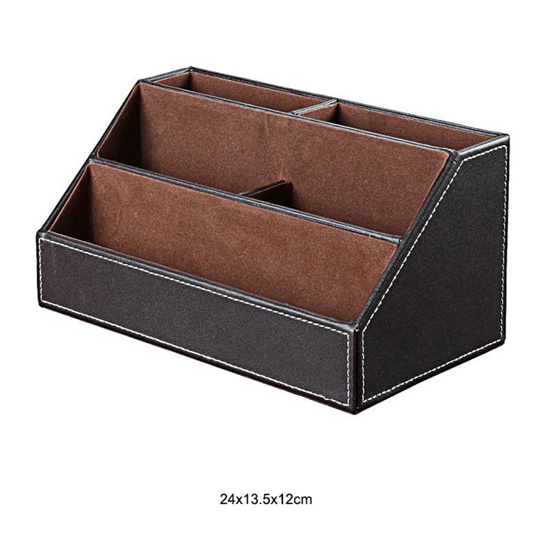 Из искусственной кожи с настольной подставкой косметический уход за кожей макияж организатор настольная подставка для ручек аксессуары для хранения сетки контейнер подарки коробка чехол - Цвет: C2