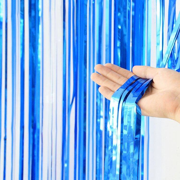 2 м девичник вечерние занавески День Рождения украшения стены Свадебные украшения день рождения украшения для взрослых - Цвет: Blue