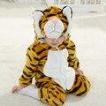 Karneval Halloween Xmas Natal Meninos Traje Infantil Tigre Anime Cosplay Crianças Recém-nascidas Do Bebê Roupas