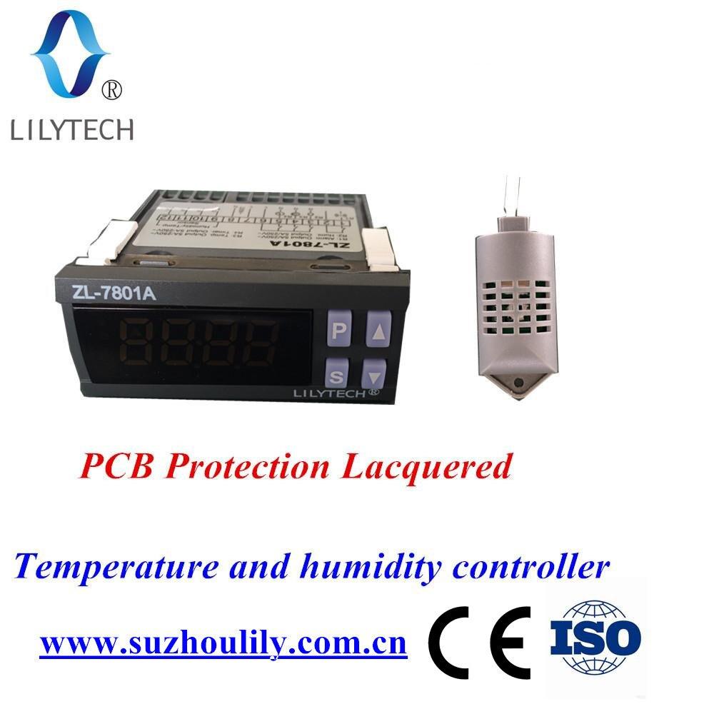 ZL-7801A... 100-240Vac multifuncional automática incubadora controlador de temperatura y humedad para incubadora Lilytech