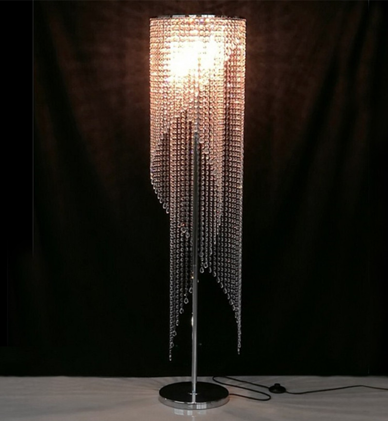 light stand for living room fixture reading led modern crystal floor lamp ...