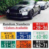 Universal Car Japanese License Plate Number Plates Aluminum Tag For Jdm Kdm Racing Motorcycle