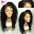heat resistant synthetic wigs with baby hair african american loose curly wigs for black woman black synthetic lace front wigs