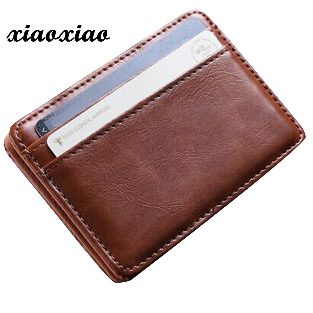 Hot Sale Mini Leather Wallet Wallet ID Credit Card Holder Male Small Wallet Wallets dropshipping hot sale 2015 harrms famous brand men s leather wallet with credit card holder in dollar price and free shipping