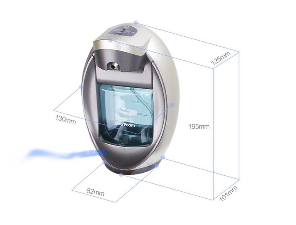 Badezimmerarmaturen Automatische Schaum Seife Spender Intelligente Schaum Handsanitizer Automatische Seife Dispenser Wand Montiert Gehobenen Seife Spender 400 Ml