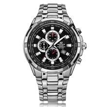 08fc9caf3105 Business New 2017 Casio watch men s edifice series sports quartz watch 100  meters waterproof black plate