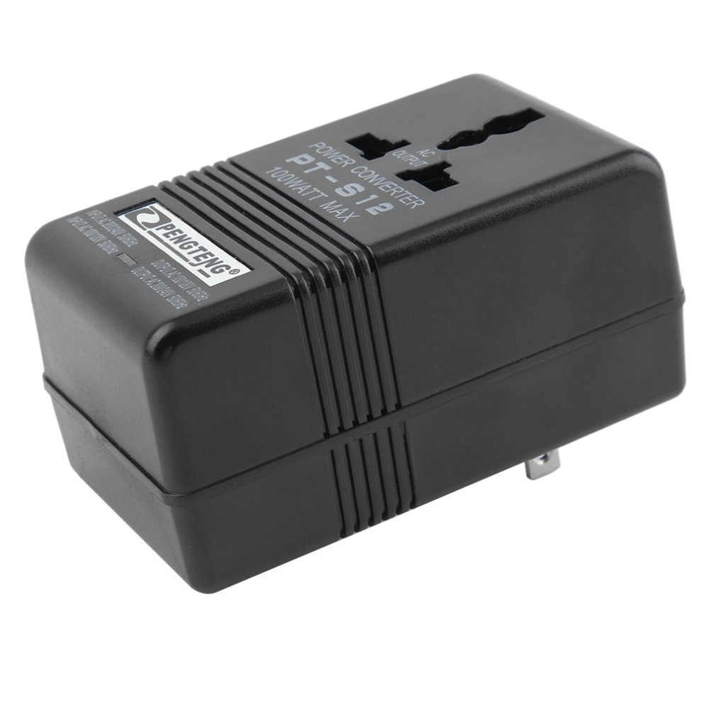 2 modus 100 W Max Power Adapter Converter 110 V/120 V Naar 220 V/240 V Dual voltage Converter Professionele Transformator