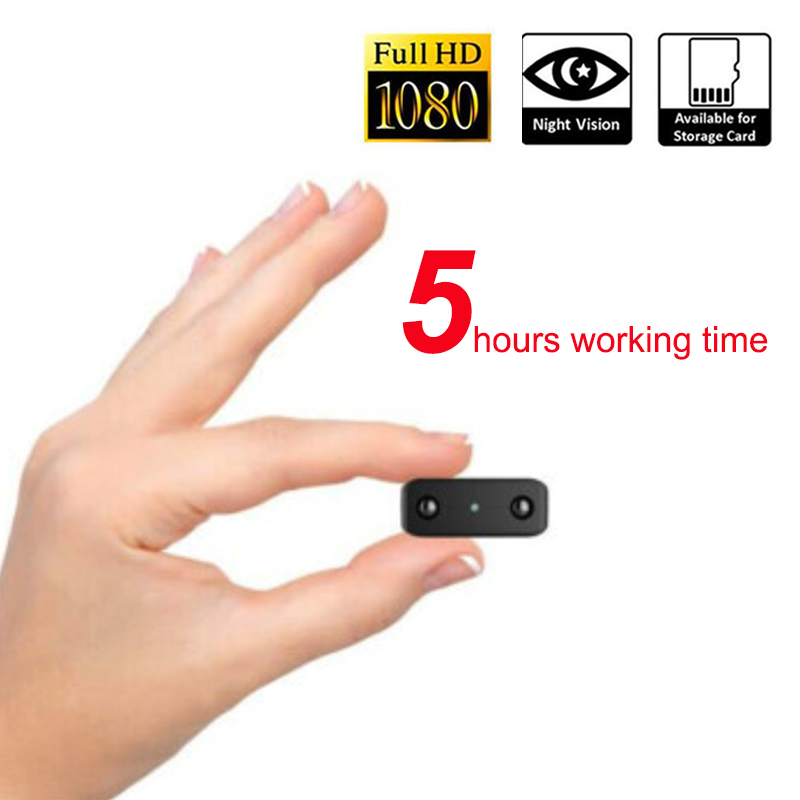 Trabajando 5 horas 1080 p visión nocturna por infrarrojos Mini cámara de grabación de Audio Mini videocámara con micrófono incorporado pk SQ8 SQ11