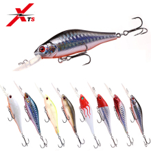 Купить с кэшбэком XTS Fishing Bait 70mm 8.6g Wobblers ABS Material Artificial Floating Hard Minnow Lure With 2 Strong Hooks Fishing Crankbait 5271