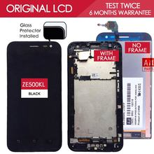 100% Original TFT 1280×720 Display For ASUS Zenfone 2 Laser ZE500KL LCD Touch Screen Digitizer Assembly ME500KL With Frame