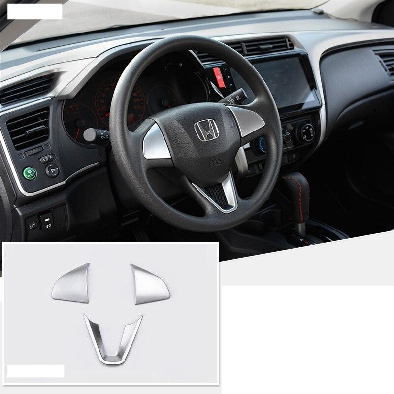 Lsrtw2017 Abs Car Steering Wheel Trims For Honda Fit 2014