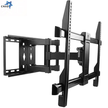 Full Motion TV Wall Mount Bracket Dual Articulating Tilt Swivel Arm Bracket for