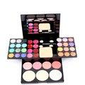 Nueva Llegada Banda de Maquillaje Paleta de 39 Colores de Sombra de Ojos cosméticos de Maquillaje Paleta de sombra de Ojos Con Imprimación Ojo Luminoso