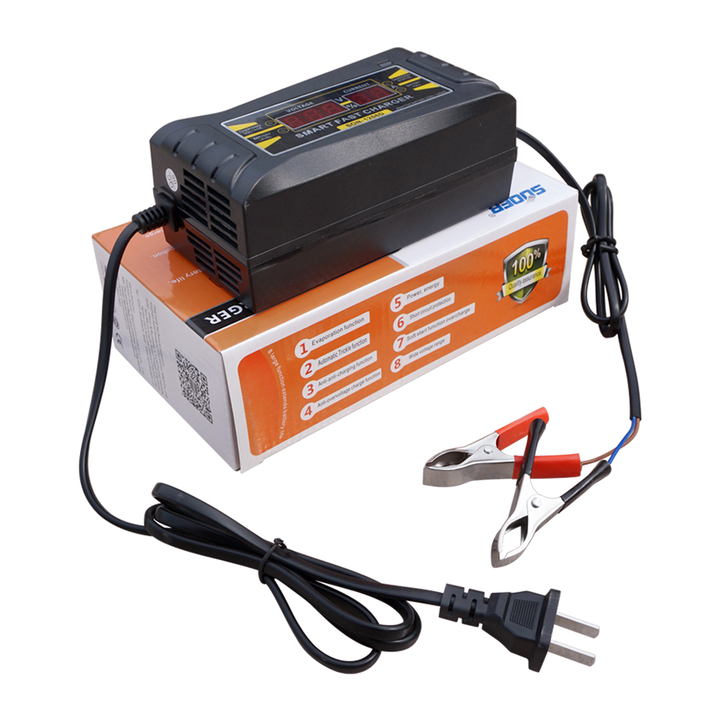 12V 6A LCD Display Smart Quick Charging Battery Charger - Car Vehicle Motorhome lc171w03 b4k1 lcd display screens