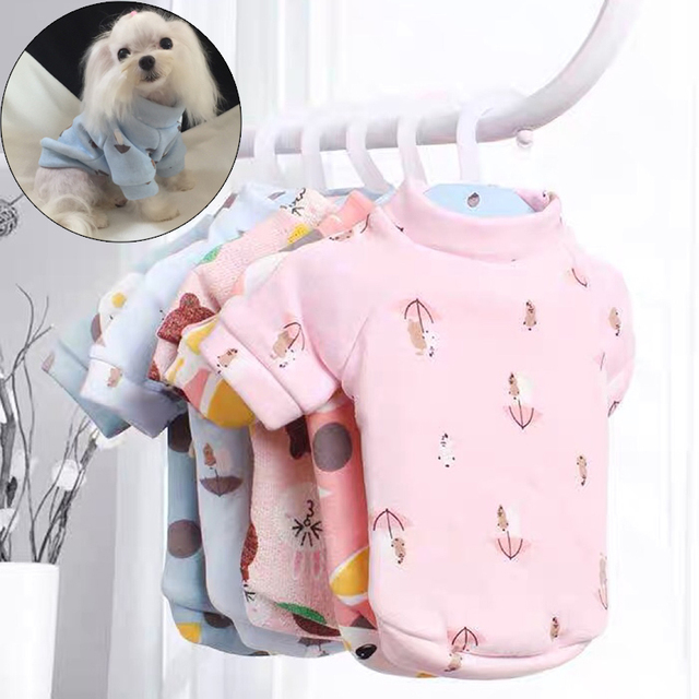 Cute Soft Pet Dog Clothes for Small Dogs Shih Tzu Yorkshire Hoodies Sweatshirt Soft Puppy Cat Costume Clothing