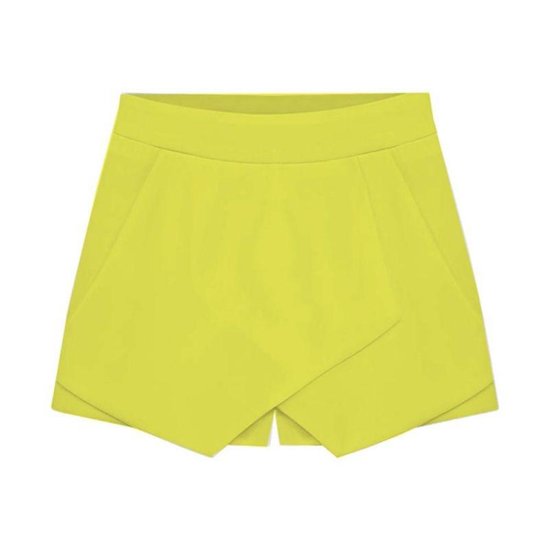 Elastic Waist   Shorts   women Irregular Loose   Shorts   Women Sharp Lines Layered OL Culottes   Shorts   Skirts New 2018 Summer Style
