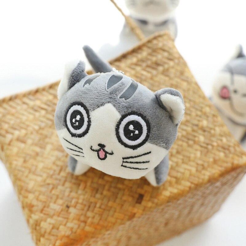 9 см мультфильм кошка плюшевые игрушки мягкие животные куклы игрушки брелок цепь Lote Peluches Para Bebe плюшевые кошки мягкие игрушки Juguetes - Цвет: 1