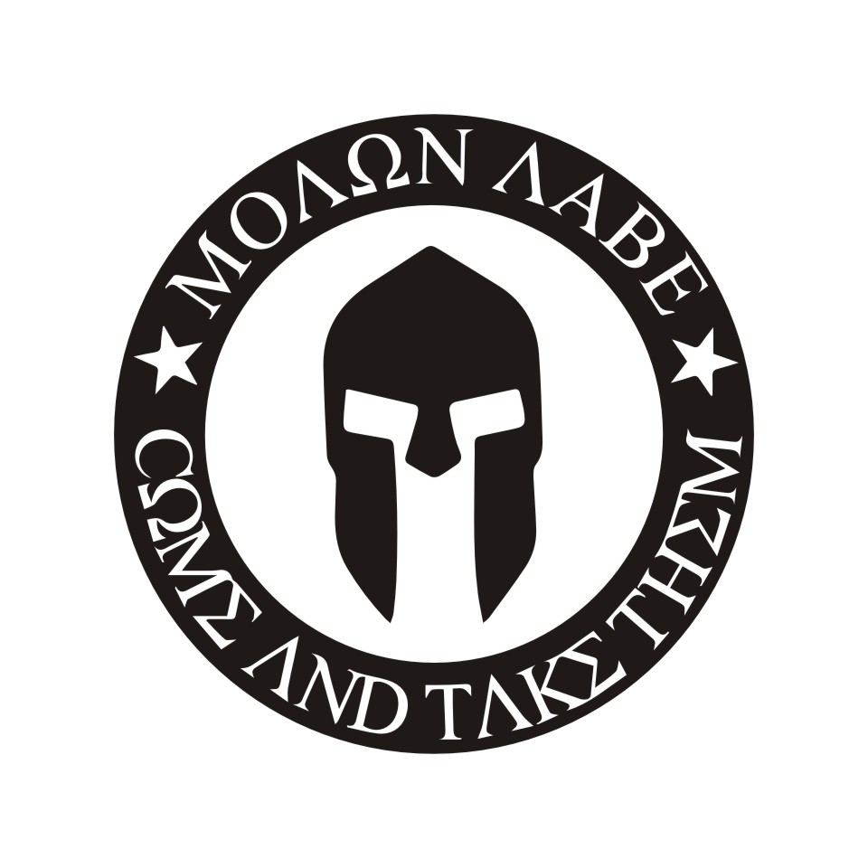 10CMX10CM Molon Labe Spartan Helmet Car Bumper Stickers and Decals Car Styling Decoration Door Body Window Vinyl Stickers (2)
