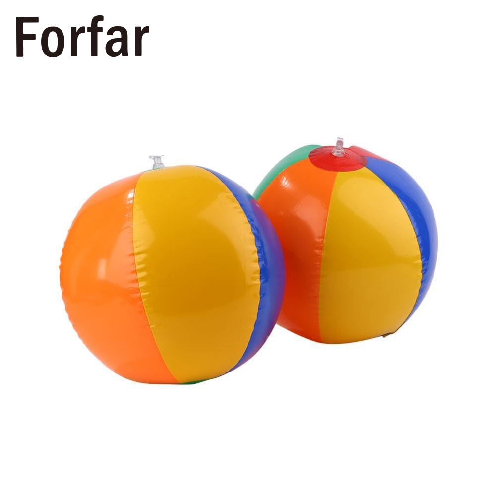 Forfar Colored Inflatable Ball Balloons Swimming Pool Play Party Water Game Balloons Beach Sport Ball Kids Fun Toys