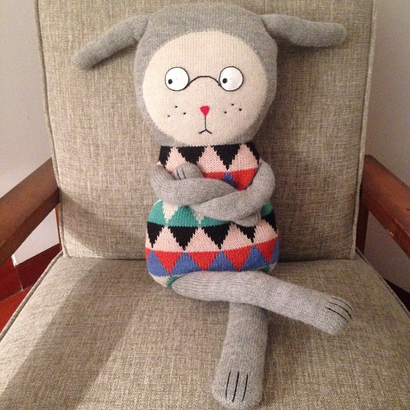 70cm Lucky Boy Cushion High Quality Cute Knitting Wool Appease Plush Toys Baby Sleep Soft Pillow Cotton Dolls Car Sofa Cushions