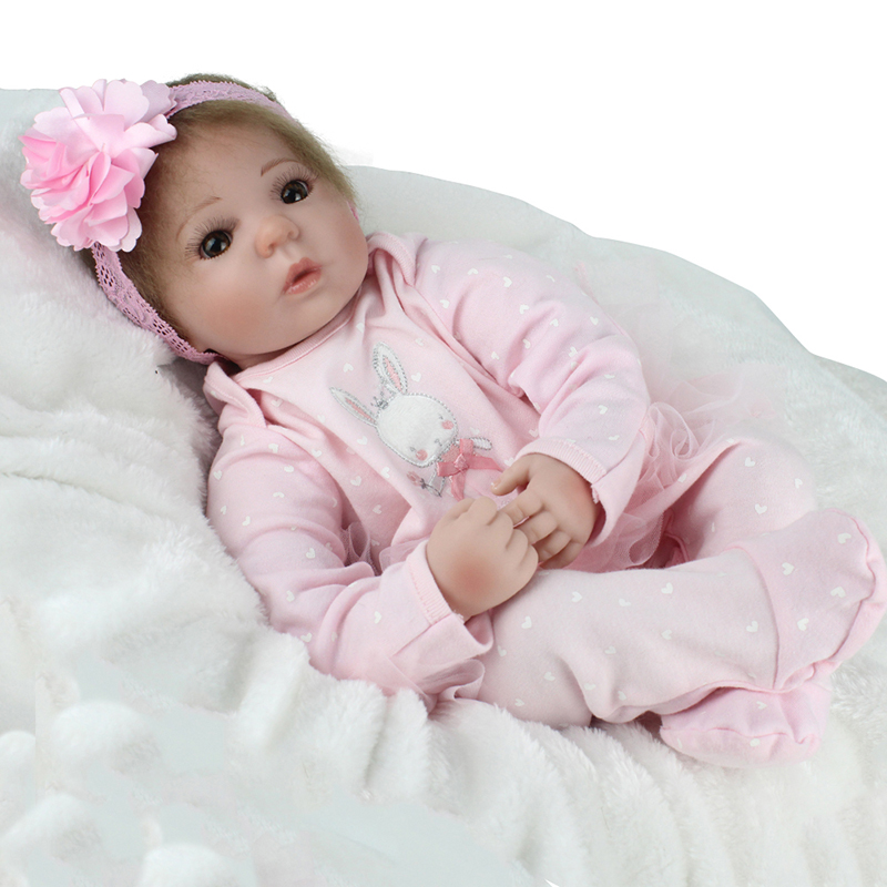 Reborn Doll Newborn Baby Kimi Rooted Mohair Pink Bebe Romper NPK DOLL 22 inch Cloth Body Soft Vinyl Girl Playmate Lovely BonecaReborn Doll Newborn Baby Kimi Rooted Mohair Pink Bebe Romper NPK DOLL 22 inch Cloth Body Soft Vinyl Girl Playmate Lovely Boneca
