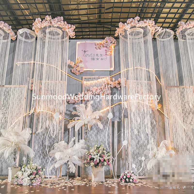 Wedding Aisle Decor.Us 380 0 3 Meter Height Hangging Only Popular Wedding Aisle Decor Event Decoration Ceiling Hangging Curtain For Party In Glow Party Supplies From