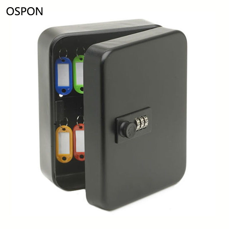 Wall Mounted Key Cabinet Password Lock Security Keybox Storage Box Contains 36 key card For Company Home Office Hanging Car Keys ospon outdoor key safe box keys storage