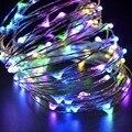 2 M/5 M 20/50 LED Luces de la Secuencia de Plata USB Powered LED Alambre De Metal de Hadas de Luz Multicolor de Navidad de La Boda Party Decor DC5V