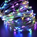 2M/5M 20/50 LED String Lights USB Powered Silver LED Fairy Light Metal Wire Multicolor Christmas Wedding Party Decor DC5V