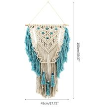 Handmade Macrame Tapestry Wall Hanging Woven Tassel Ornament Living Room Home Decoration Craft Nordic Style