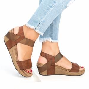 d0d012177 COSIDRAM Summer Women Sandals Wedge Heels Platform Shoes
