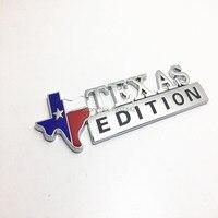 Cromado 3D Edición Texas Emblemas Emblema Para Ford F-150 F-250 F-350 (también Universal Para Chevy Camiones Dodge) Car Styling