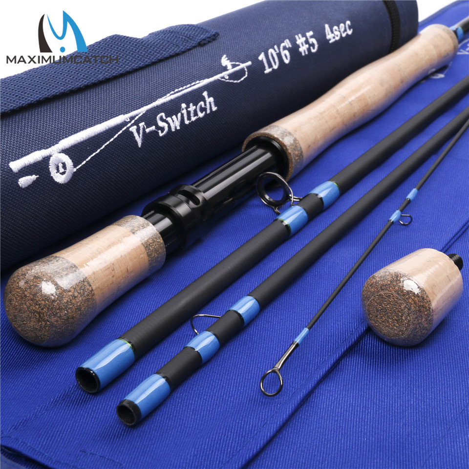 Maximumcatch sk24 carbon fiber 10 39 6 39 39 5wt full handle fast for Fly fishing rods