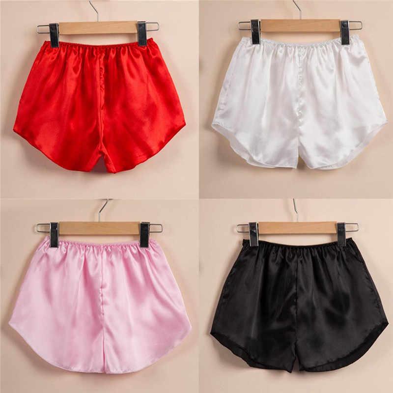 Sutra Musim Panas Baju Tidur 2019 Hot Celana Pendek Wanita Fashion Satin Baju Tidur Piyama Celana Pendek M2