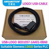 ¡USB-LOGO aislado para el logotipo de la serie del logotipo de Siemens PLC de programación del cable! USB-Cable RS232 Cable logotipo PC-CABLE PC-6ED1057-1AA01-0BA0