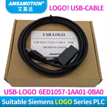 USB-LOGO Isolated For Siemens LOGO Series PLC programming cable LOGO! USB-Cable RS232 Cable LOGO PC-CABLE PC-6ED1057-1AA01-0BA0 original simatic 6ed1055 1hb00 0ba0 logo dm8 24r expansion module 6ed1 055 1hb00 0ba0 2te 4 di 4 do 6ed10551hb000ba0 freeship