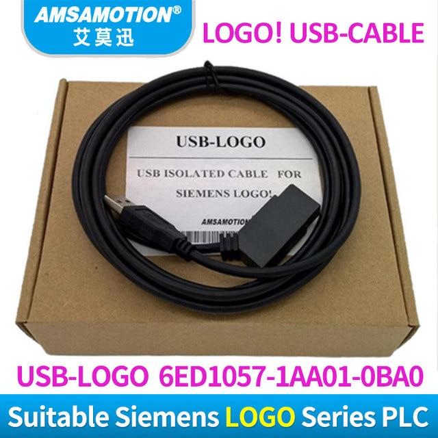 USB LOGO แยกสำหรับ Siemens LOGO Series PLC การเขียนโปรแกรมโลโก้! สาย USB RS232 สายโลโก้ PC CABLE PC 6ED1057 1AA01 0BA0