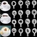 16 teile/los Cappuccino Kaffee Barista Form Vorlagen Blumen Streuen Pad Spray Kunst Backen Werkzeuge Kaffee Schablone Filter Kaffee Maker-in Kaffee-Schablonen aus Heim und Garten bei