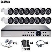 GADINAN 16CH AHD 4MP System Kit H 264 Encoding Onvif 16PCS 3MP 4MP Optional Metal AHD