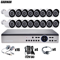 GADINAN 16CH AHD 4MP System Kit H 264 Encoding Onvif 16PCS 3MP 4MP Optional Metal AHD