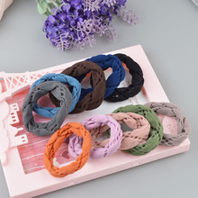 3pieces New Women Big Wide Soft Rubber Bands Hair Holders Elastic Accessories Tie Gum Fashion A139