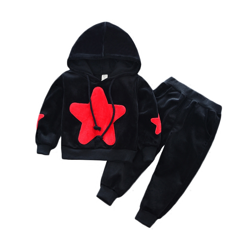 Fashion Kids Boy Clothes Male Children Wear Five Stars Suit Autumn New Baby Child clothing Hooded Long Sleeve Boys Sport Suits children clothing set 2018 new baby girl motion suit child short sleeve leisure time twinset summer wear kids boys clothes