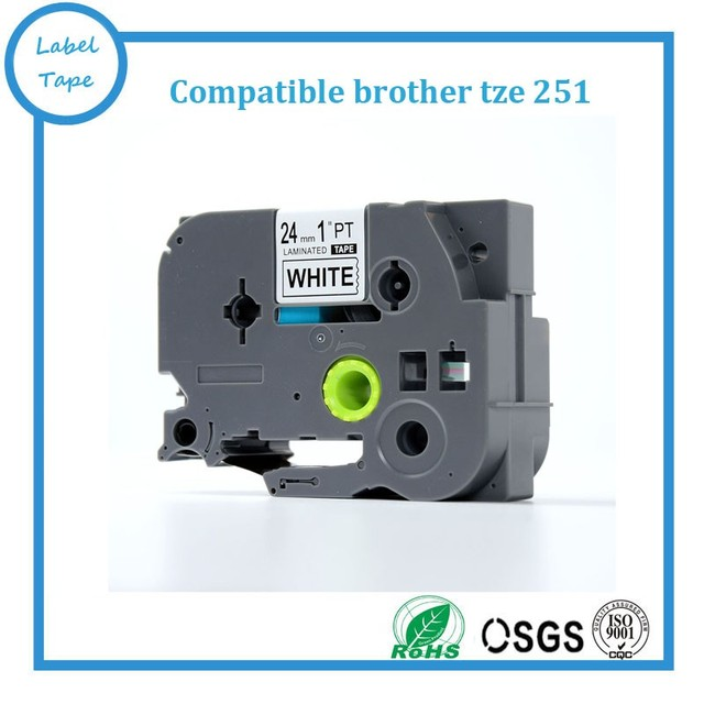 Free shipping Compatible brother tz label tape 24mm tze251 tz 251 P ...