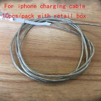 10pcs Pack High Quality 1m 2m USB Sync Data Charger Cable For IPad Air IPhone 5
