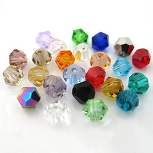 100PCS Bicone Faceted Crastal Rhinestone Loose Spacer Beads Jewelry Making 4mm