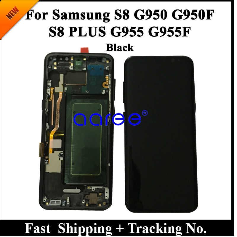 100% سوبر AMOLED شاشات LCD لسامسونج S8 G950 LCD S8 G950F شاشات LCD لسامسونج S8 عرض LCD شاشة مجموعة رقمنة اللمس